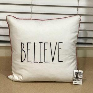 Rae Dunn BELIEVE Pillow 20x20